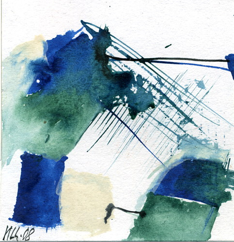 ALTAY LIK GALLERY PAINTINGS - ABSTRACT PROJECT WATERCOLORS